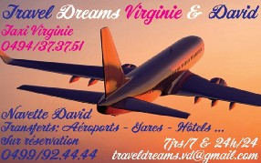 TAXI Virginie & Navette David Travel Dreams V & D LES BONS VILLERS